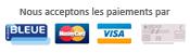 Logo paiement CB, MasterCard, VISA, Paypal, chèque